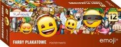 Farby plakatowe Emoji Emotikony 12 kolorów (42236)