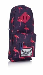 Piórnik szkolny HASH plecaczek w różowe flamingi, PINK FLAMINGO HS-88 (505019057)