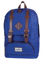 Plecak szkolny, miejski młodzieżowy COOLPACK CITY niebieski w kropki BLUE DOTS 1024 (72236)