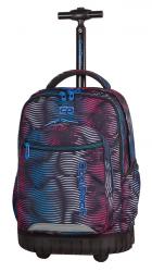 Plecak szkolny młodzieżowy na kółkach COOLPACK SWIFT w kolorowe paski, FLASHING LAVA 946 (70416)