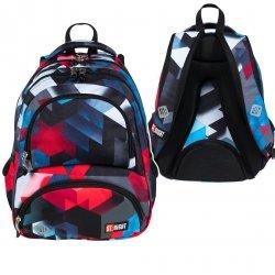 Plecak szkolny młodzieżowy ST.RIGHT w czerwone klocki 3D, RED 3D BLOCKS BP7 (26333)