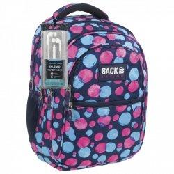 Plecak szkolny młodzieżowy Back UP kolorowe kropki WATER DOTS + słuchawki (PLB1B1)