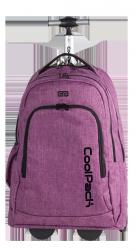 Plecak CoolPack SUMMIT  na kółkach fioletowy, SNOW PURPLE 851 (76135)