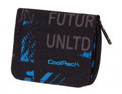 Portfel młodzieżowy COOLPACK HAZEL niebiesko - czerwone wzory, UNDERGROUND 840 (75725)