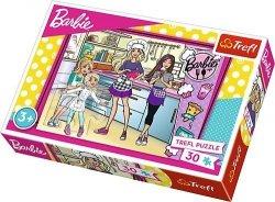TREFL Puzzle 30 el. Barbie, Wspólne gotowanie (18237)
