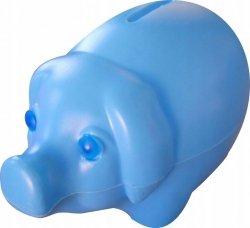 Skarbonka świnka plastikowa NIEBIESKA (00172)