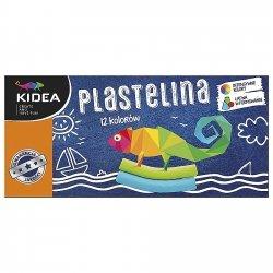 Plastelina 12 kolorów KIDEA (P12KKA)