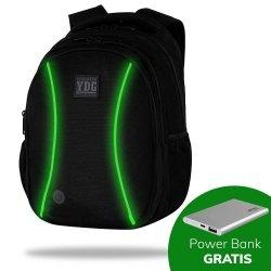 Plecak CoolPack LED JOY L czarny z zielonymi dodatkami GREEN (B81310)