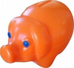 Skarbonka świnka plastikowa POMARAŃCZOWA (00172)
