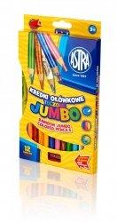 Kredki ołówkowe tęczowe JUMBO 12 kolorów z temperówką ASTRA (312118002)