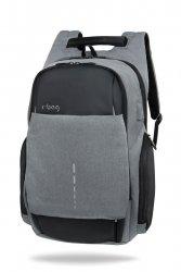 Plecak męski na laptopa 13-15,6'' z USB Drum Gray Szary R-Bag (Z022)