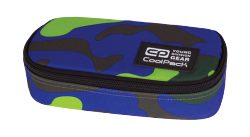 Piórnik szkolny COOLPACK CAMPUS limonkowo - granatowe moro, CAMOUFLAGE LIME 876 (73714)
