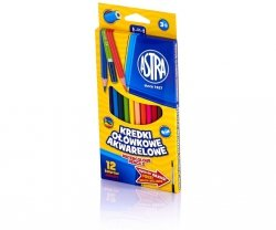 Kredki ołówkowe akwarelowe 12 kolorów ASTRA (60467)
