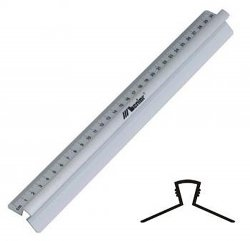 Linijka aluminiowa z uchwytem 30 cm, LENIAR (03177)