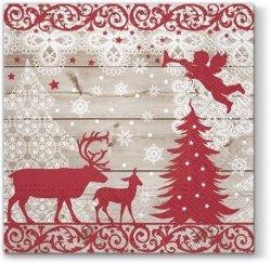 Serwetki świąteczne DECOR LUNCH, Paw (SDL080800)