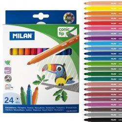 Flamastry ze stożkową końcówką Milan 24 kolory (0612324)