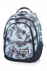 Plecak CoolPack DRAFTER w kwiatki na błękitnym tle, SURF PALMS (B05021)