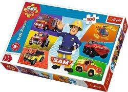 TREFL Puzzle 100 el. Pojazdy Strażaka Sama, Strażak Sam (16354)