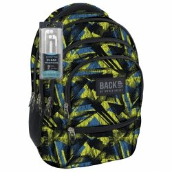 Plecak szkolny młodzieżowy Back UP kolorowe wzory ABSTRACT ART + słuchawki (PLB1C29)