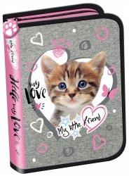 Piórnik St. Majewski bez wyposażenia My Little Friend CAT PINK Kotek w różu (05002)