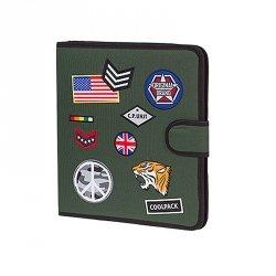 COOLPACK Teczka wielofunkcyjna organizer MATE, zielona w znaczki, BADGES GREEN