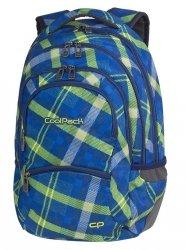 Plecak szkolny młodzieżowy COOLPACK COLLEGE niebieski w zieloną kratę, SPRINGFIELDS (82553CP)