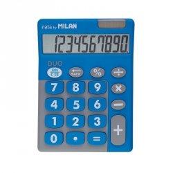 Kalkulator 10 pozycyjny Touch Duo niebieski Milan (150610TDBBL)