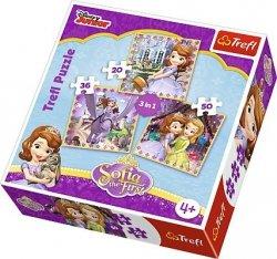 TREFL Puzzle 3 w 1 KSIĘŻNICZKA ZOSIA i jej przyjaciele (34814)