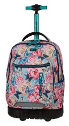 Plecak CoolPack SWIFT  na kółkach kwiaty i motyle, BUTTERFLIES + gratis (80156CP)