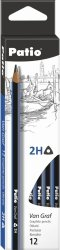 Ołówek szkolny trójkątny VanGraf 2H PATIO (44509PTR)