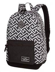 Plecak CoolPack miejski GRASP czarny w białe wzory, BLACK & WHITE TRIBAL (36184CP)