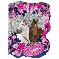 Notes kształtowy A6 KONIE Horses MIX (NKA6KO04)