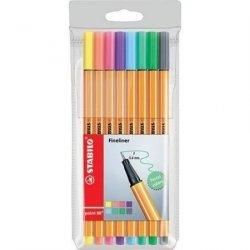 Cienkopisy pisaki STABILO 8 pastelowych kolorów (88/8-01)