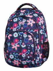 Plecak szkolny młodzieżowy COOLPACK BASIC w kwiaty, BLUISH MEADOW 918 (69694)