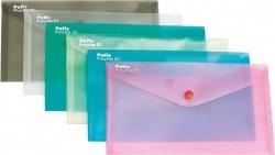 Teczka koperta transparentna na dokumenty DL PATIO różowa (PAT3153/N/14)