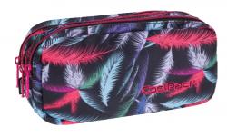 Piórnik trzykomorowy saszetka COOLPACK PRIMUS w kolorowe pióropusze, PLUMES 965 (70904)