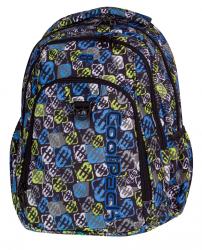Plecak CoolPack STRIKE niebiesko - żółty, SIGNS 818 (75251)