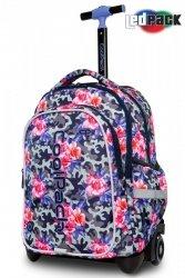 Plecak CoolPack JUNIOR na kółkach kwiaty w moro CAMO ROSES (96676)