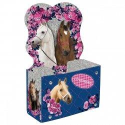 Biurkowy pojemnik na przybory szkolne I Love Horses KONIE (PPSKO)