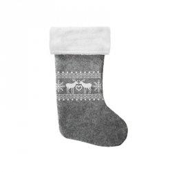 Skarpeta mikołajkowa świąteczna RENIFERY szara Incood. (0111-0006)