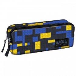 Piórnik dwukomorowy BackUP klocki, BRICKS (PB3B52)