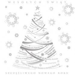 Kartka świąteczna kwadratowa BOŻE NARODZENIE 15 x 15 cm + koperta (40857)