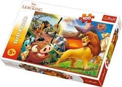 TREFL Puzzle 100 el. Przygody Simby, Król Lew (16359)