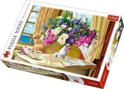 TREFL Puzzle 1000 el. Kwiaty o poranku (10526)