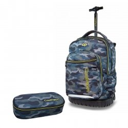 ZESTAW 2 el. Plecak CoolPack SWIFT na kółkach w moro, MILITARY (B04008SET2CZ)