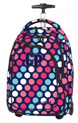 Plecak szkolny młodzieżowy na kółkach COOLPACK TARGET w kolorowe kółka (79990)