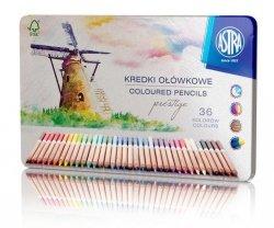 Kredki ołówkowe PRESTIGE z drewna cedrowego 36 kolorów ASTRA (312117003)