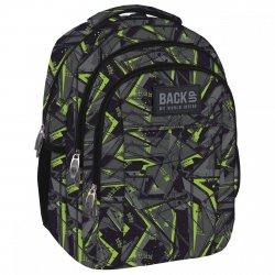 Plecak szkolny młodzieżowy Back UP zielone wzory GREEN SCRATCH (PLB1H31)