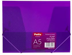 Teczka transparentna A5 na gumkę FIOLETOWA (PAT4004S/N/12)