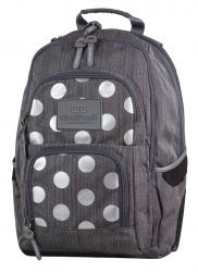 Plecak szkolny młodzieżowy COOLPACK UNIT szary w kropki, SILVER DOTS/GREY 702 (78603)